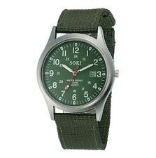 Montre à quartz vert/kaki armée commando militaire sport avec dateur