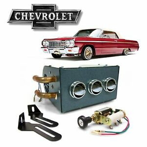 1961-76 GM B-Body Under Dash 3-Port Compact Cab Heater Core Box 5.0l 454 Impala
