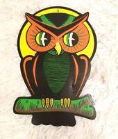 VINTAGE BEISTLE OWL HALLOWEEN DIE CUT EMBOSSED hanging decoration