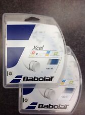NEW BABOLAT XCEL 40' 125/17 BLUE (2 PACK)