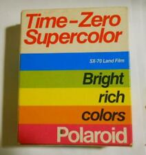 Polaroid Time Zero Supercolor SX-70 Land Film Two Pack EXPIRED 08/85, Unopened