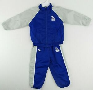 NEW Vintage Majestic MLB Los Angeles Dodgers Track Suit Size Toddler 24Months