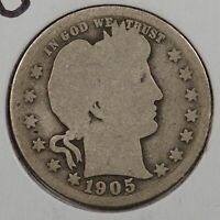 1905-O Barber Quarter Good