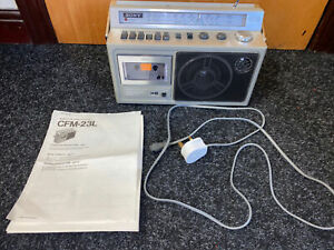 Sony CFM-23L Vintage 4-Band FM/SW/MW/LW Radio Cassette Recorder Player Working