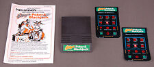 Vtg Intellivision Video Game-Las Vegas Poker & Blackjack-Manual 2 Ctrlr Overlays