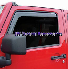 07-17 Jeep Wrangler GTS Smoke Snap In Side Window Visors Deflectors 2pc 83641