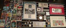 HUGE Junk Drawer Lot: OLD US COINS 1889+, Scrap Silver, Currency, Stamps VINTAGE
