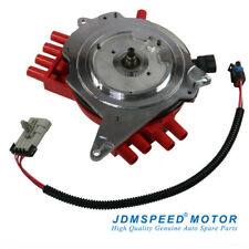 Jdmspeed Red Ignition Distributor With Wire Harness For Chevy Pontiac 10457702 Fits Pontiac