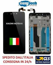 Touch Screen  LCD Display Vetro con Frame Per XiaoMi Redmi  NOTE 4X NERO