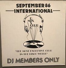 SEPTEMBER 86 INTERNATIONAL DISCO MIX CLUB DMC DJ MEMBERS ONLY UK VINYL