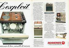 Publicité Advertising 028  1980   Rosières (2p)  lave-vaisselle de cuisson