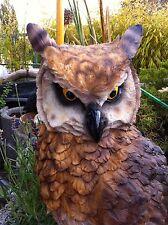 Deko Eule,Kauz,Uhu,Gartenfigur,Greifvogel Dekoration Vogel, Skulptur