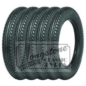 475/500x19 Lucas Vintage car Tyres set of Five (5)