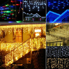 LED Icicle Curtain String Lights Indoor Outdoor Christmas Party Wedding Decor