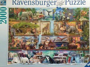 Brand New Ravensburger 2000 Piece Jigsaw Puzzle - WILD KINEDOM SHELVES