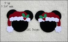 Die Cut Disney Christmas Santa Hat Mickey Heads Scrapbook Page Paper Piecing