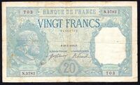 FRANCE 20 Francs 1918  P-74