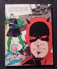 2016 HERITAGE Comics Comic Art Auction Catalog VF- 7.5 Feb 18-20 270p Daredevil