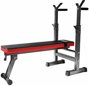 Folding Flat Weight Lifting Bench Body Workout Exercise Benches Home Gym Fitness