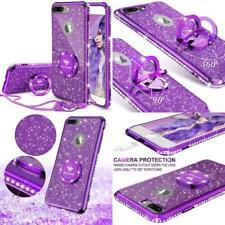 Iphone 7 8 Plus Case Glitter Cute Girls Kicks Purple Stand Bling Diamond Bumper