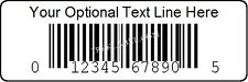 1000 Custom Printed Upc Bar code Number Label Stickers Roll