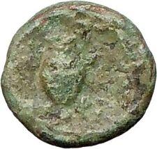 Myrina in Asia Minor 200BC  Ancient Greek Coin Helios Sun  God  Amphora  i27862