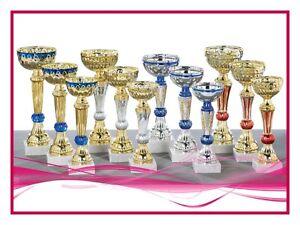 lot de 12 coupes trophées recompenses entre 19 et 25 cm