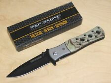 TAC-force cuchillo Tactical line assisted opening con mango camo y volver clip/embalaje original
