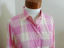 J CREW Factory perfect shirt in maxi check XS 0 2 4 X-Small Pink NWOT NEW Dress