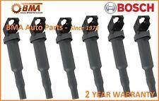 NEW OEM BOSCH BMW E60 E85 E90 SET OF 6 IGNITION COILS 12137594936 / 0221504465