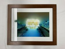 Lincoln Memorial- By Golshah Agdasi Framed & Signed Print 16x20