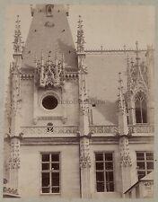 Architecture médiévale Art gothique France Vintage albumine ca 1880