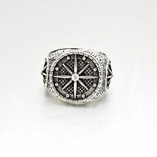 Mens RING Stainless Steel Compass Anchor Silver Band Ring Jewelry WOMEN RING 9