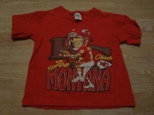 Youth Kansas City Chiefs Joe Montana S (6/8) Vintage 1993 T-Shirt Tee