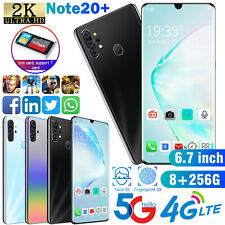 "6.7"" FingerPrint Android 9.1 Unlocked 8GB+256BG & 128GB TF Card Dual SIM Phone"