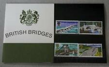 GB 1968 BRITISH BRIDGES PRESENTATION PACK SG 763 766 MINT STAMP SET SEE # 03
