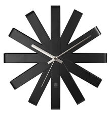 "Umbra Ribbon 12"" Stainless Steel Wall Clock (Black) 118070-040"