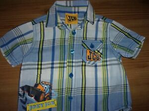 Baby Boy's Short Sleeve-Shirt-  JCB Digger Design - 9-12 Months - 100% Cotton