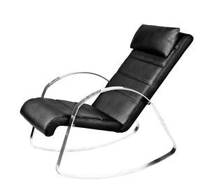 Joshua Steinberg - Archibald Full Leather Rocking Chair