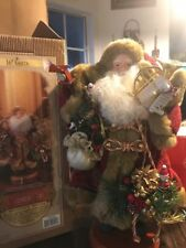 "16"" 1999 Grandeur Noel Santa With French Horns And Toys"