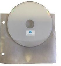 50 CD DVD Unikeep holds 2 Discs White with Flap Wallets Sleeves NEW HQ
