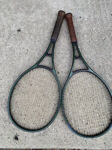 LOT Of Two TENNIS RAQUETS Prince Graphite Babolat 4 1/4 Calfskin Handle