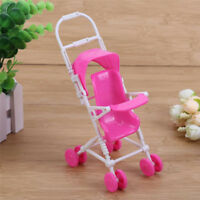 2pcs Plastic Baby Carriage Stroller Trolley For Barbie Doll Nursery Furniture D9