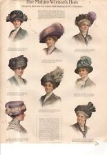 1911 Original Fashion Print - Mature woman's hats