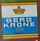 VINTAGE GERMAN BEER LABEL - SCHLOSS BERG KRONE PILS