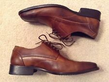 VGC! Mens Aldo Brown Leather Upper Lace Up Loafers Sz 43 Handsome Style!