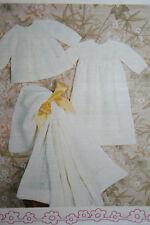Christening Robe, Shawl and Dress Knitting Pattern