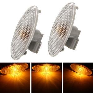 2x Fender Side Marker Turn Signal Light For Toyota Corolla Camry Yaris RAV4 Firm