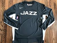 61 Nike Utah Jazz City Edition warmup Grey Shirt Dri Fit Athletic Cut NBA M L XL