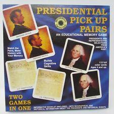 Vintage Safari Ltd Presidential Pick Up Pairs Memory Educational Homeschool 4+